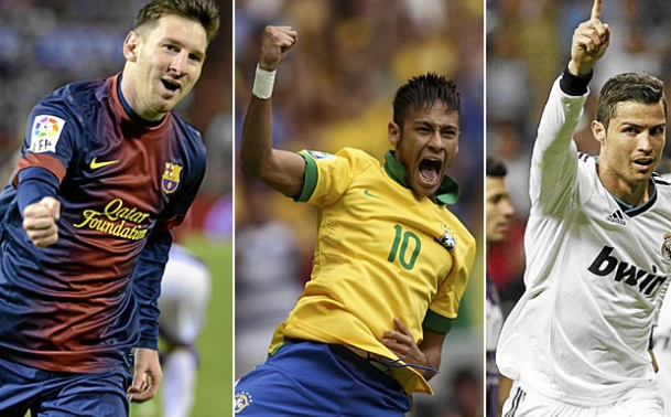 messi - neymar - cristiano ronaldo