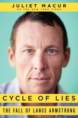 Capa do livro 'Ciclo das mentiras: a queda de Lance Armstrong'