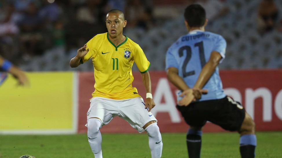 Marcos Guilherme na seleção de base. Foto Rafael Ribeiro/CBF/Divulgação