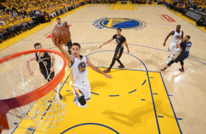 curry vitória warriors sobre pelicans playoffs
