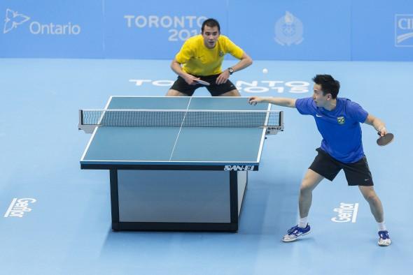 Final individual dos Jogos Panamericanos foi contra Gustavo Tsuboi (Foto: Divulgacao/ITTF)