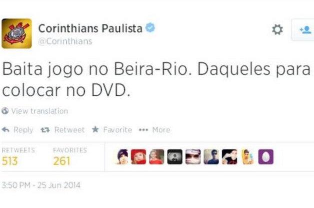 Corinthians provoca Internacional
