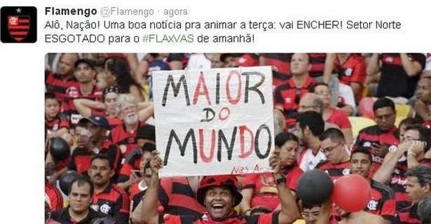 Foto: Reprodução/Twitter do Flamengo