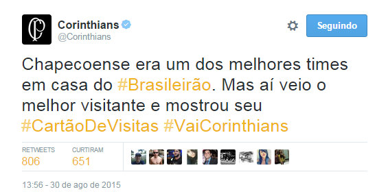 Corinthians avai