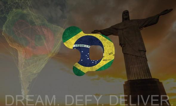 Logomarca da Dry World ganhou as cores do Brasil