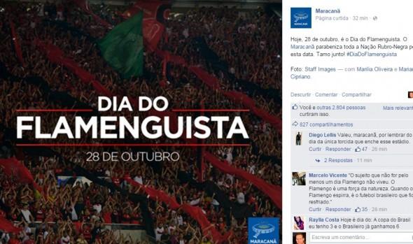 Maracana faz homenagem ao Flamengo