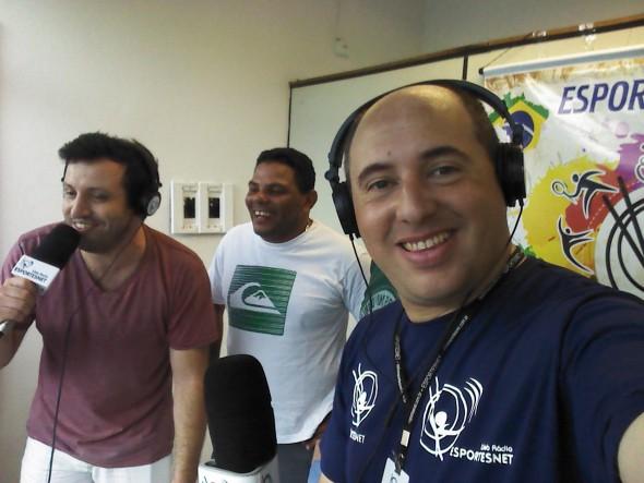 Renato Rainha apareceu e deu show. Crédito: ESPORTESNET