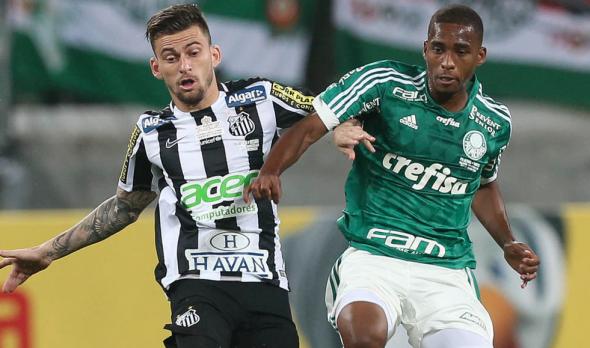 Matheus Sales deverá marcar Lucas Lima, assim como aconteceu na final da Copa do Brasil de 2015. Foto: César Greco/ Ag. Palmeiras