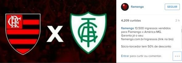 Reprodução Intagram/Flamengo