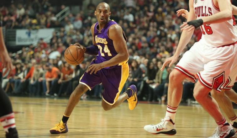Kobe Bryant em partida contra o Chicago Bulls