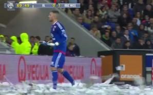 Lyon x Nice, no Campeonato Francês, foi interrompido