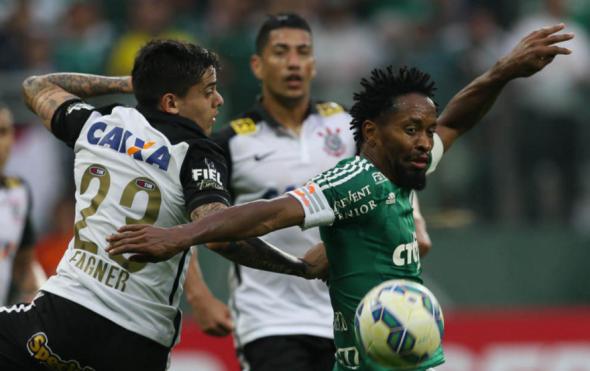 Zé Roberto marcou um dos gols da vitória do Verdão em Itaquera. Foto: César Greco