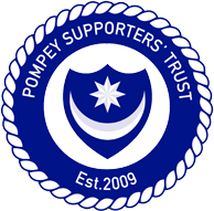 Logo do Pompey Supporters Trust - site oficial do clube
