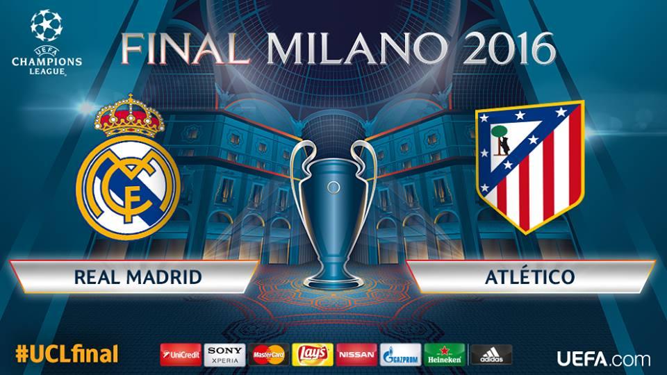 Real Madrid x Atlético de Madrid - final da Liga dos Campeões 2015/2016