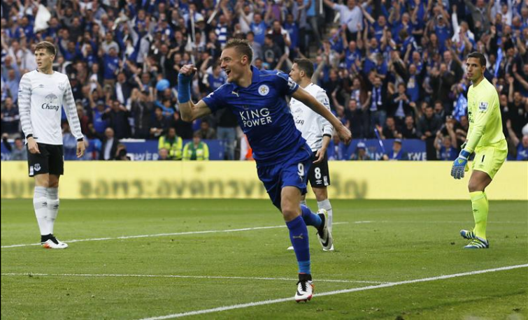 Jamie Vardy - Leicester x Everton