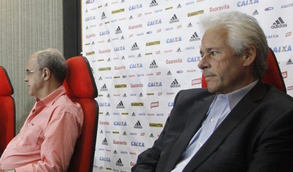 Godinho ao lado do presidente Bandeira - Foto: Gilvan de Souza/Flamengo
