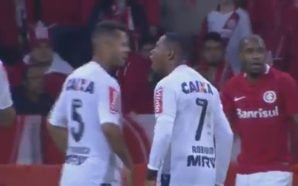 Robinho e Rafael Carioca
