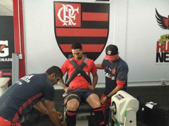 Donatti já faz atividade no Ninho. Foto: Divulgação/Flamengo