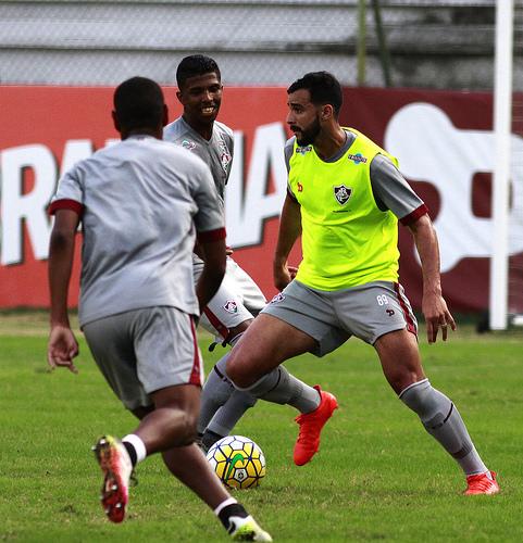 Henrique Dourado no treino - Fotos: Nelson Perez/ Fluminense FC