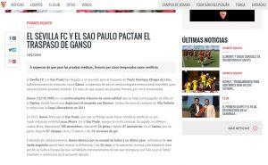 Crédito da foto: Divulgação/Site oficial Sevilla