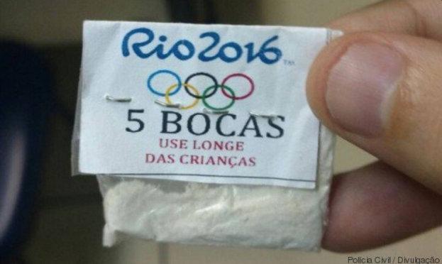 Traficantes vendiam cocaína com logotipo da Olimpíada