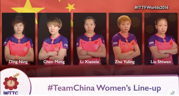 tenis de mesa china