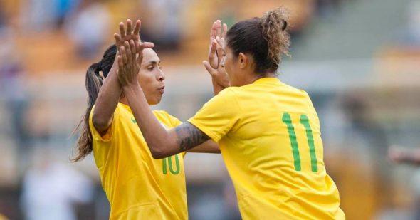 Seleção feminina de futebol não passou das semifinais. Foto: Mowa Press / Divulgação