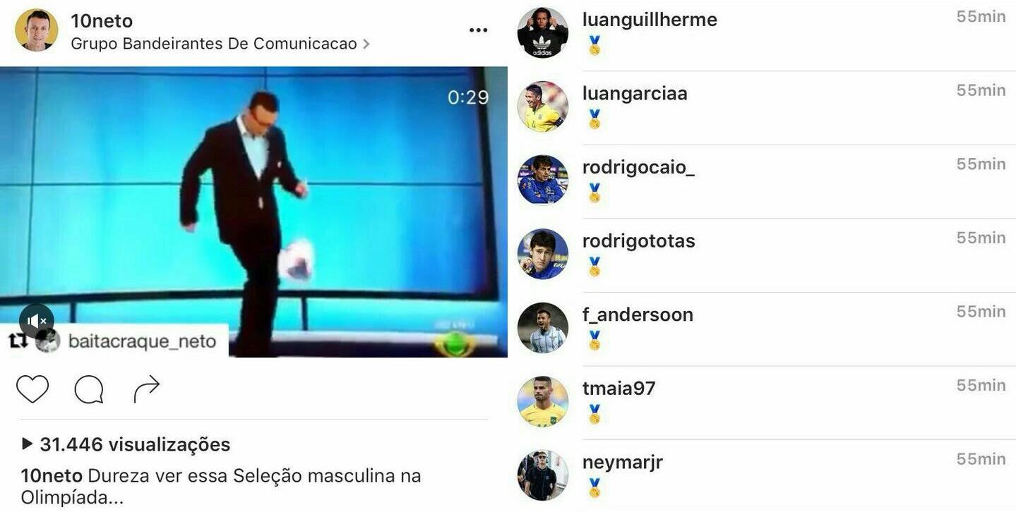 Foto: Reprodução / Instagram oficial de Neto
