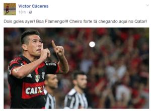 Crédito da foto: Reprodução\ Facebook oficial do Victor Cáceres