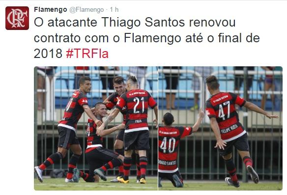 Flamengo renova com Thiago Santos