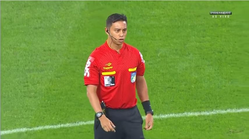 Gilberto Rodrigues Castro Júnior, árbitro de Santos x Internacional pela ida das quartas de final da Copa do Brasil
