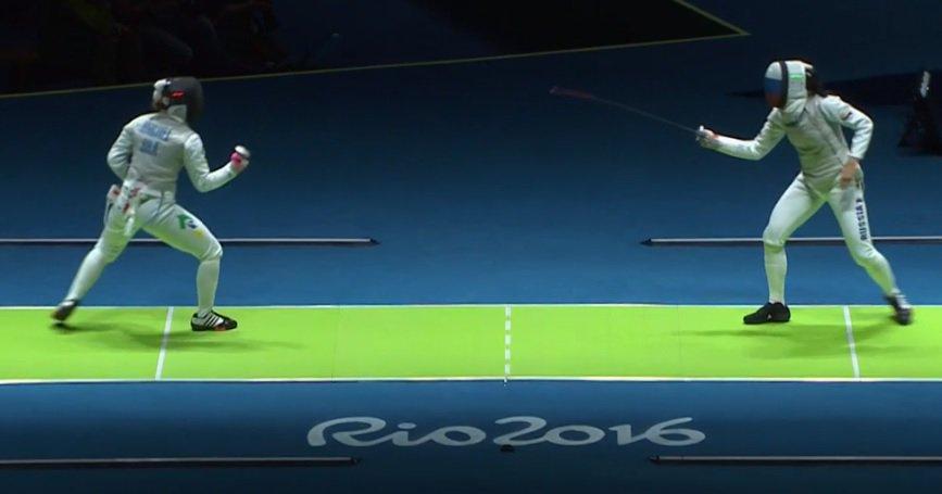 Tais Rochel em ação nas Olimpíadas Rio 2016 - Crédito da foto: Reprodução/Twitter/Time Brasil