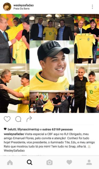 Foto: Reprodução/ Instagram Wesley Safadão