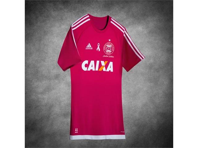 Coritiba terá camisa especial ao Outubro Rosa - Crédito da foto   Divulgação Adidas 026e334e8cff2