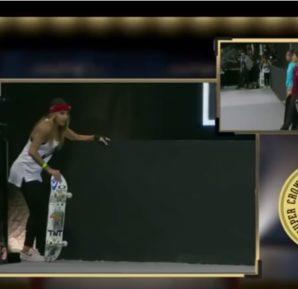 Brasileira sofre queda grave em competição de skate