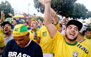"""Brasileiros provocam argentinos no Mineirão: """"O Messi vai vomitar"""""""