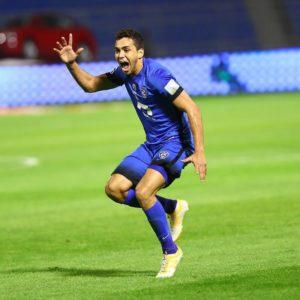 Na atual temporada Carlos tem 4 gols e 4 assistências em 9 jogos. Crédito da foto: Al Hilal FC.