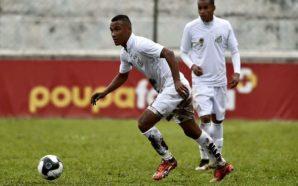 Nathan em ação pelo Santos B na Copa Paulista deste ano. Crédito da foto: Santos FC.