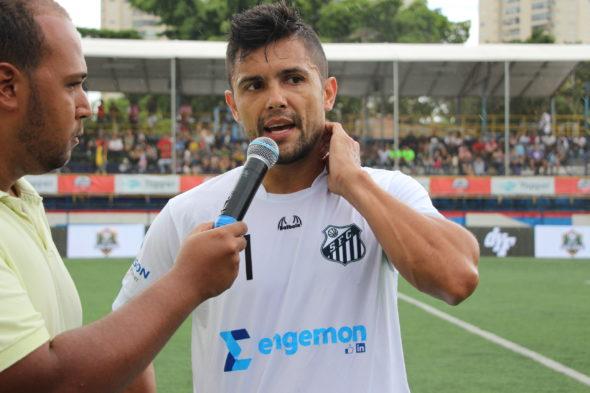 Leandrinho atleta do Santos FC F7, destaque do peixe na semifinal contra o Vasco da Gama. ( Foto: Tercio Nurnberg / Torcedores.com)