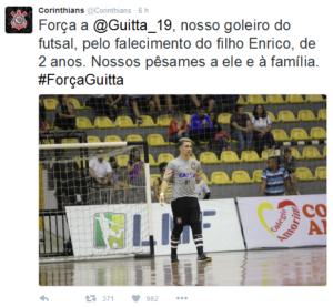 Foto: Twitter oficial do Corinthians