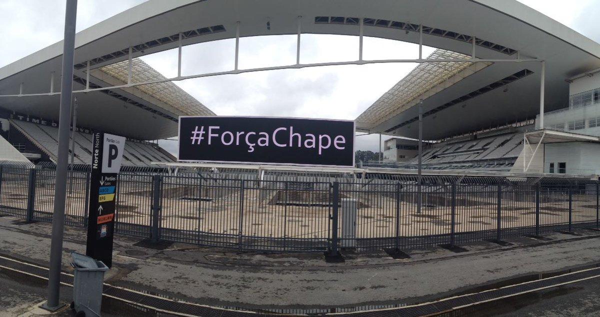 Reprodução / Twitter oficial da Arena Corinthians
