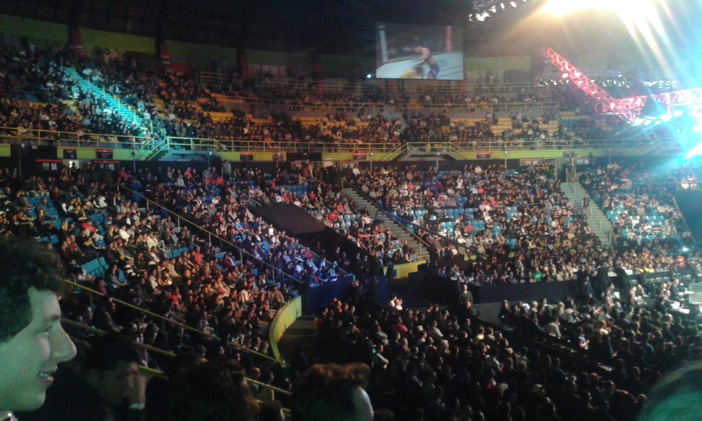 Torcida compareceu em bom número ao UFC SP, mas não lotou o local - Crédito da foto: Márcio Donizete/Torcedores.com