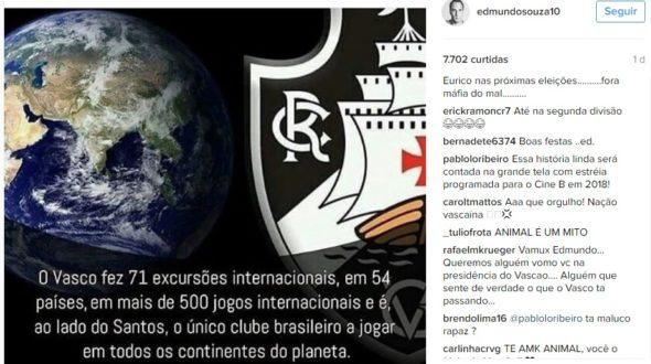 Foto: Reprodução/ Instagram do Edmundo