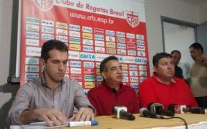 Léo Condé é apresentado em coletiva de imprensa (Foto: Ascom CRB)