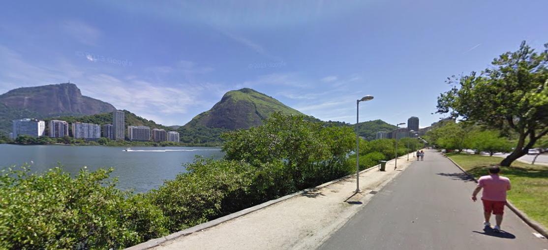 Lagoa Rodrigo de Freitas é um dos principais ponto para correr - Foto: Reprodução/Google Street View