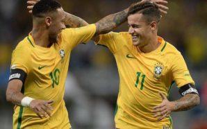 Neymar e Coutinho Seleção Brasileira