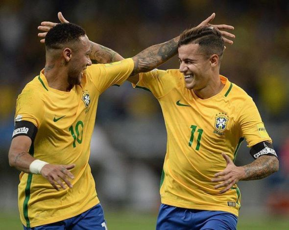 Neymar e Coutinho
