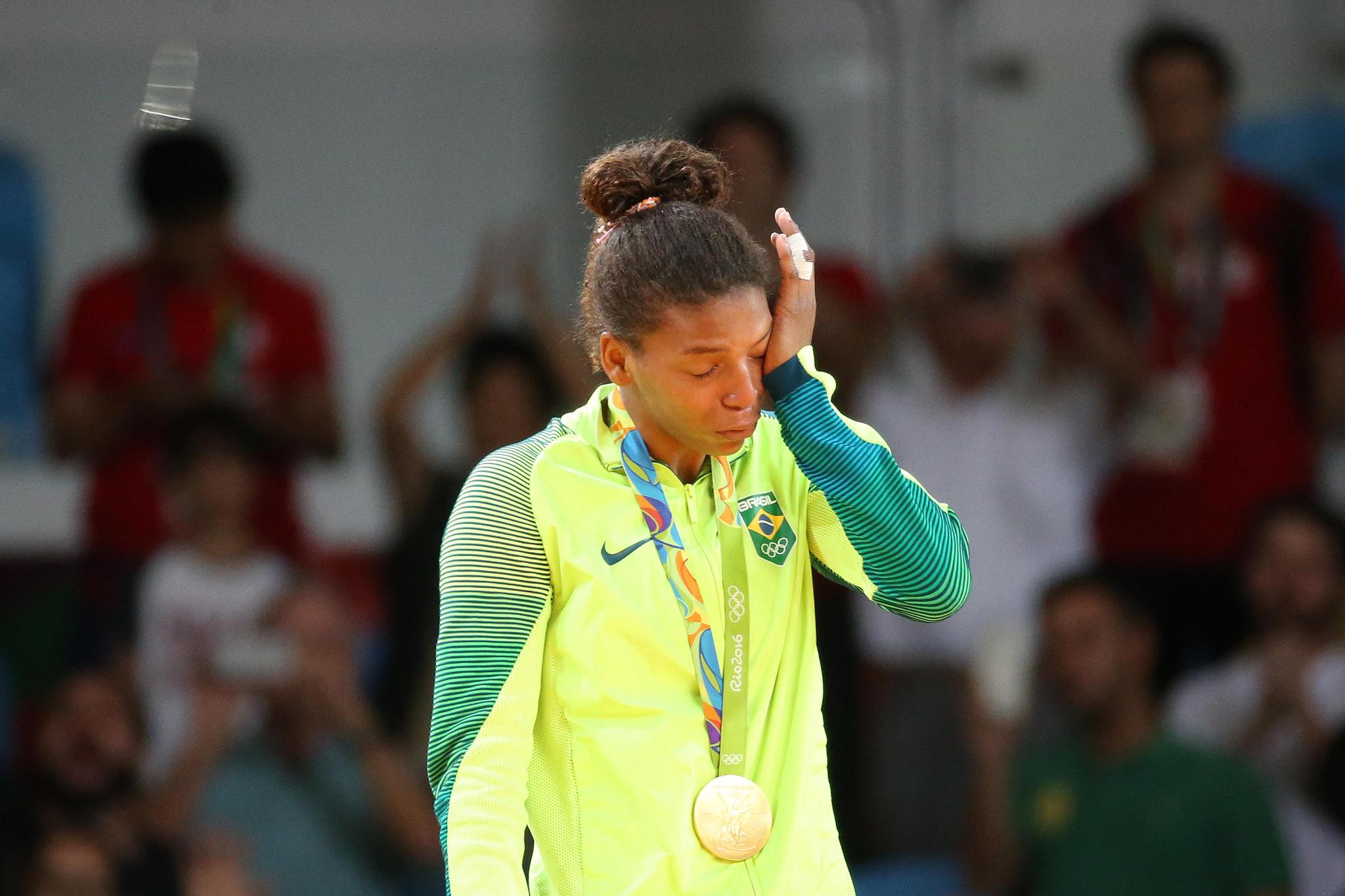 A judoca Rafaela Silva é medalha de ouro nos Jogos Olímpicos Rio 2016 Foto: Roberto Castro/ Brasil2016