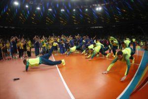 Brasil vence a Itália por 3 sets a 0 e fica com o ouro Foto: Fernando Frazão/Agência Brasil