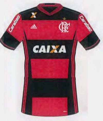 Carabao, nas mangas da camisa, é a nova patrocinadora do Flamengo (Foto: Reprodução)